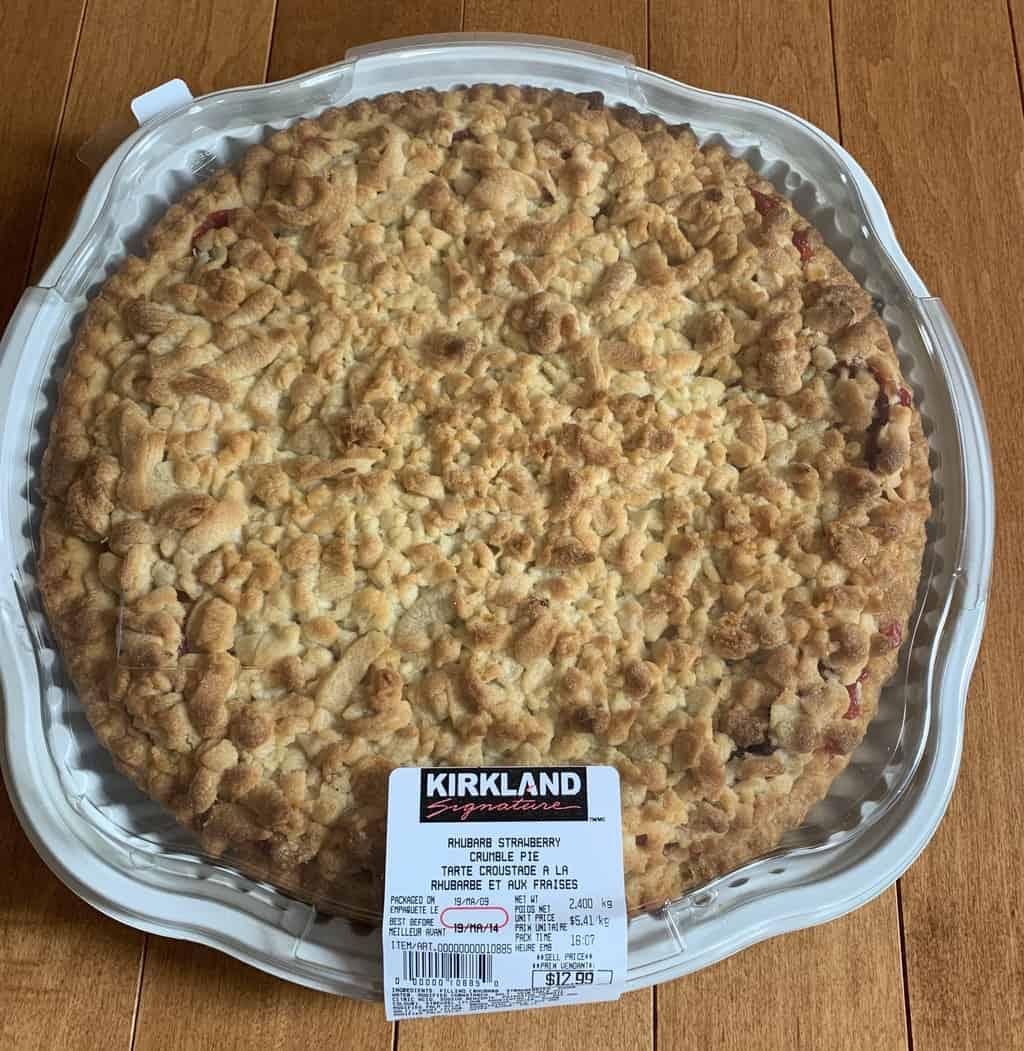 Costco Kirkland Signature Rhubarb Strawberry Crumble Pie Review ...