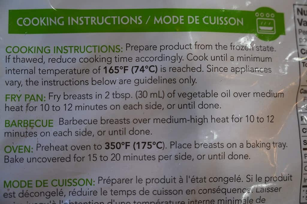 Costco Yorkshire Valley Farms Organic Frozen Chicken Breasts Cooking Instructions