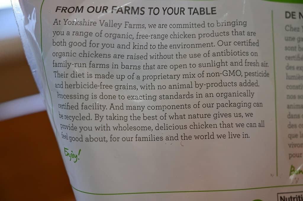 Costco Yorkshire Valley Farms Organic Frozen Chicken Breasts