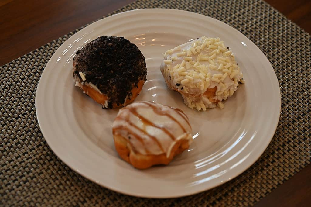 Costco Indulgence Filled Donuts Caramel, Cookies & Cream and Lemon