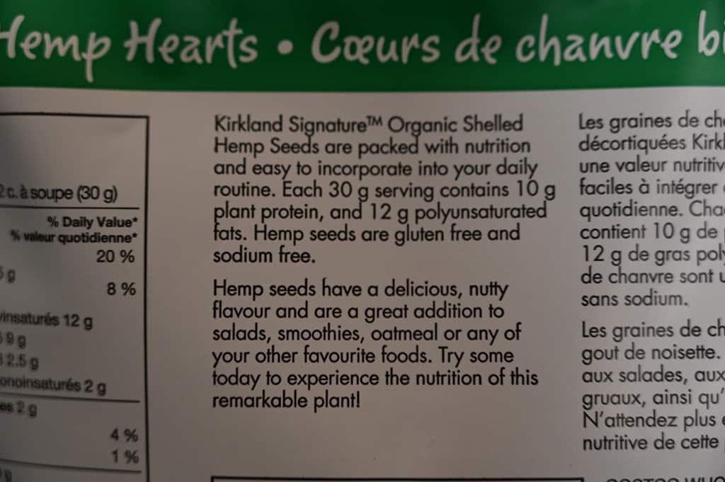 Hemp hearts description