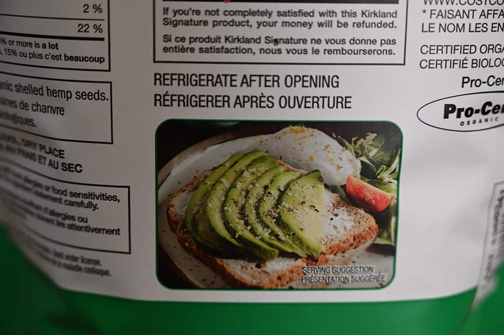 Hemp Hearts refrigerate after opening