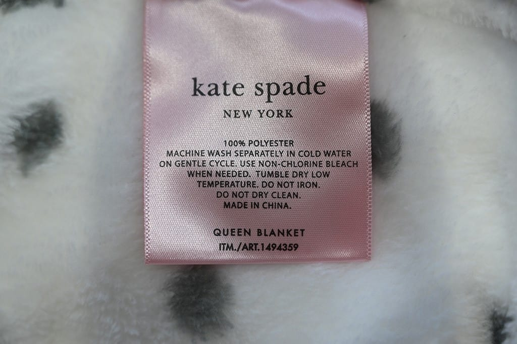 Costco Kate Spade Blanket Washing Instructions