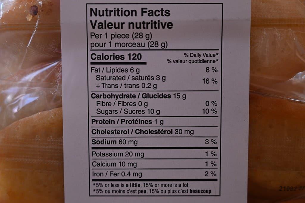Costco Donsuemor Lemon Zest Madeleines Nutritional Information