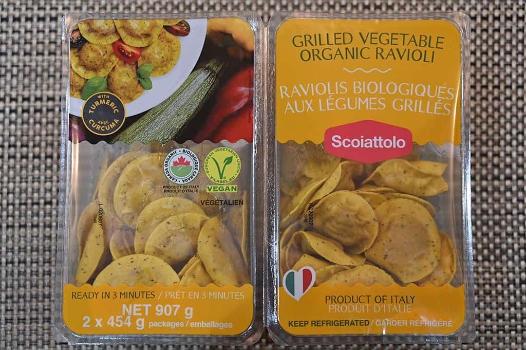 Costco Vegan Scoiattolo Grilled Vegetable Organic Ravioli