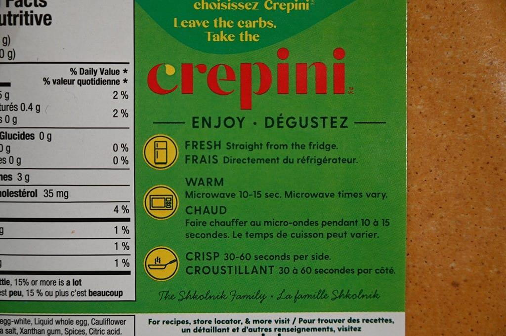 Costco Crepini Egg Wraps
