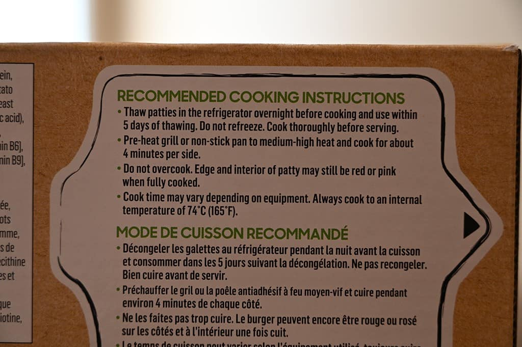 Costco Beyond Meat Beyond Burger Cooking Instructions