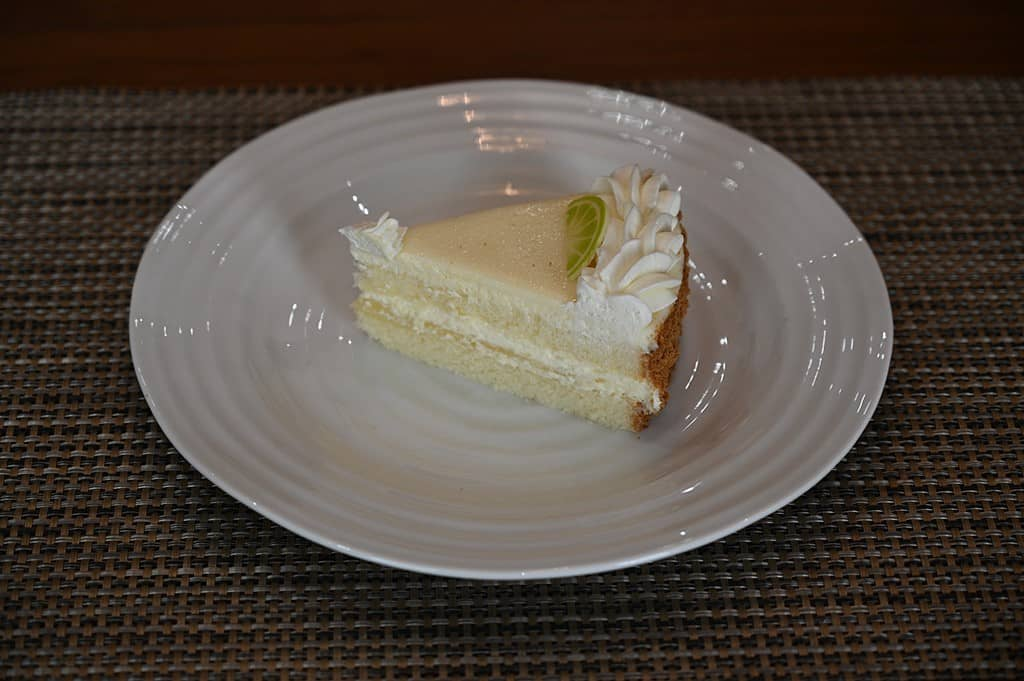 Slice of Costco Kirkland Signature Key Lime Cake