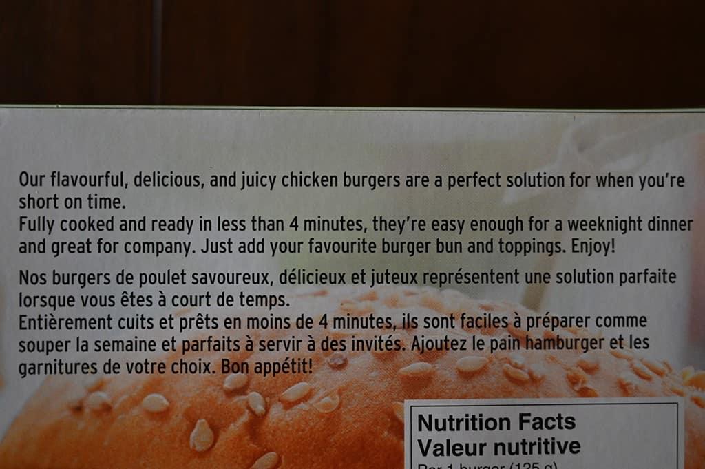 Costco Connie's Kitchen Chicken Burgers