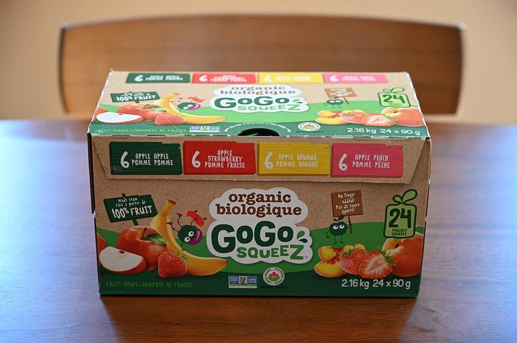 Costco GoGo Squeez Organic Apple Sauce Pouches