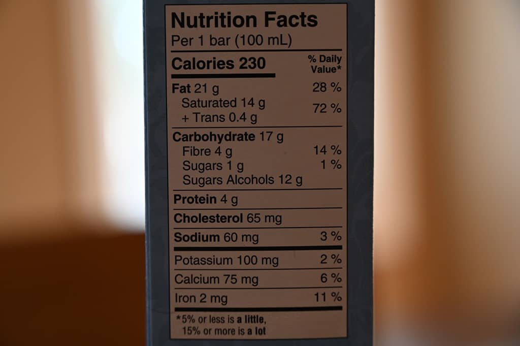 Costco Keto Skream Frozen Dessert Bars Nutrition Information
