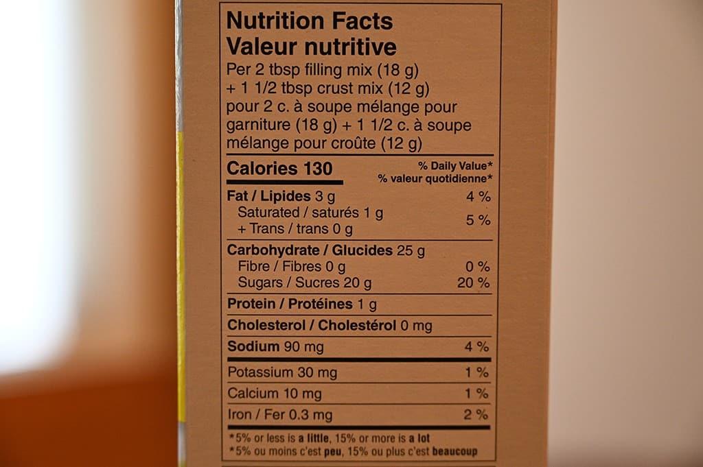 Costco Krusteaz Meyer Lemon Bar Mix Nutritional Information