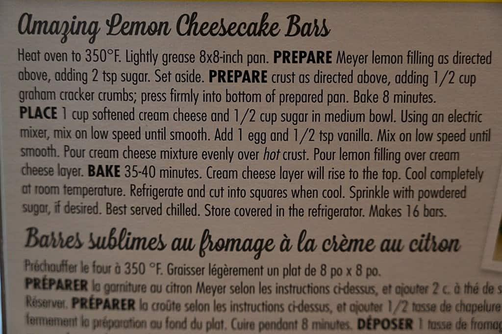 Costco Krusteaz Meyer Lemon Bar Mix Lemon Cheesecake Bars Recipe