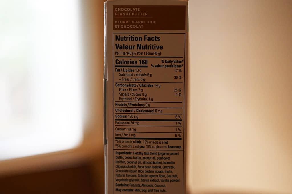 Costco No Sugar Company Keto Bars Nutrition Information