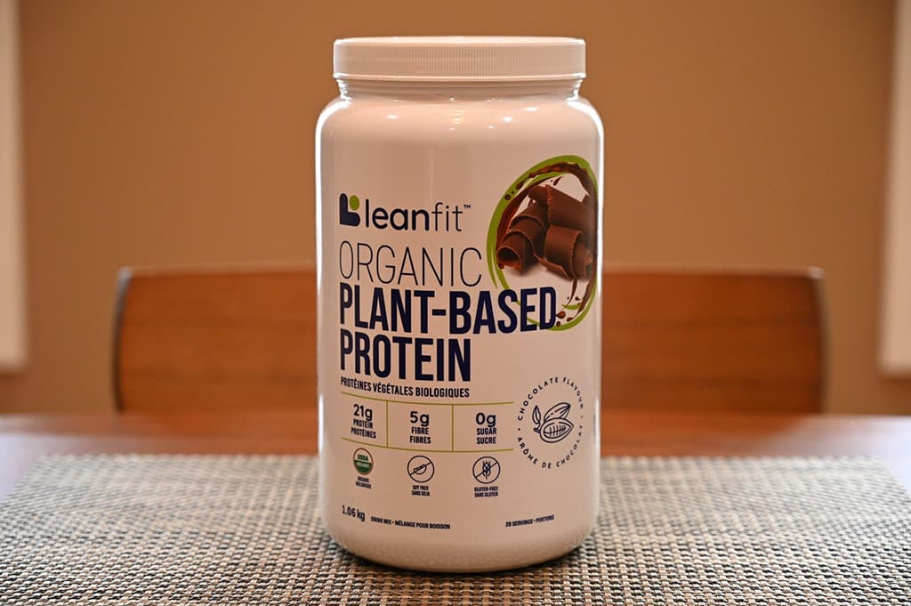 Costco Leanfit Organic Plant-Based Chocolate Protein