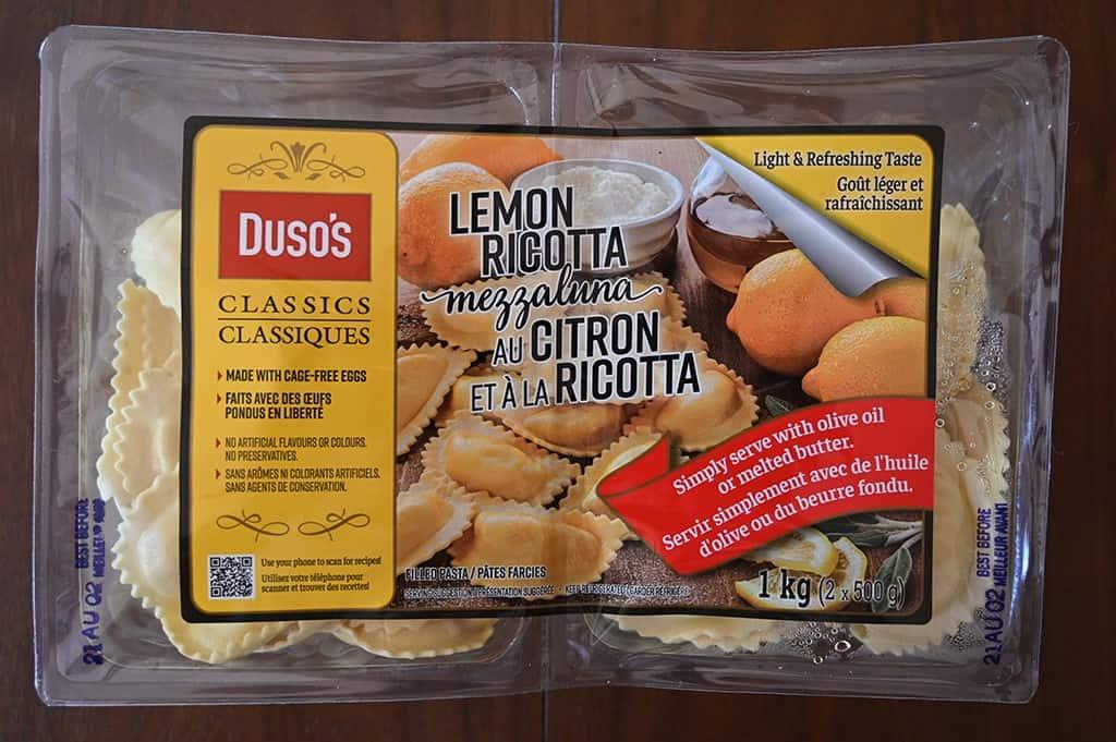 Costco Duso's Lemon Ricotta Mezzaluna