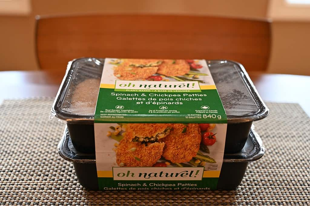 Costco oh naturel! Spinach & Chickpea Patties