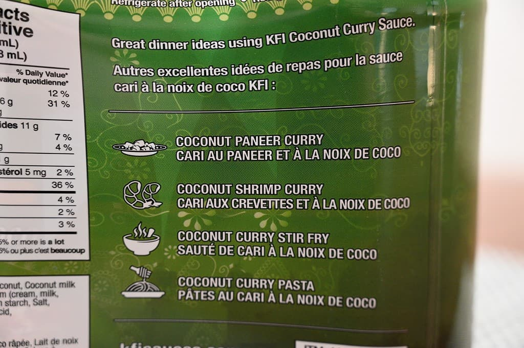 Costco KFI Coconut Curry Cooking Sauce Ideas