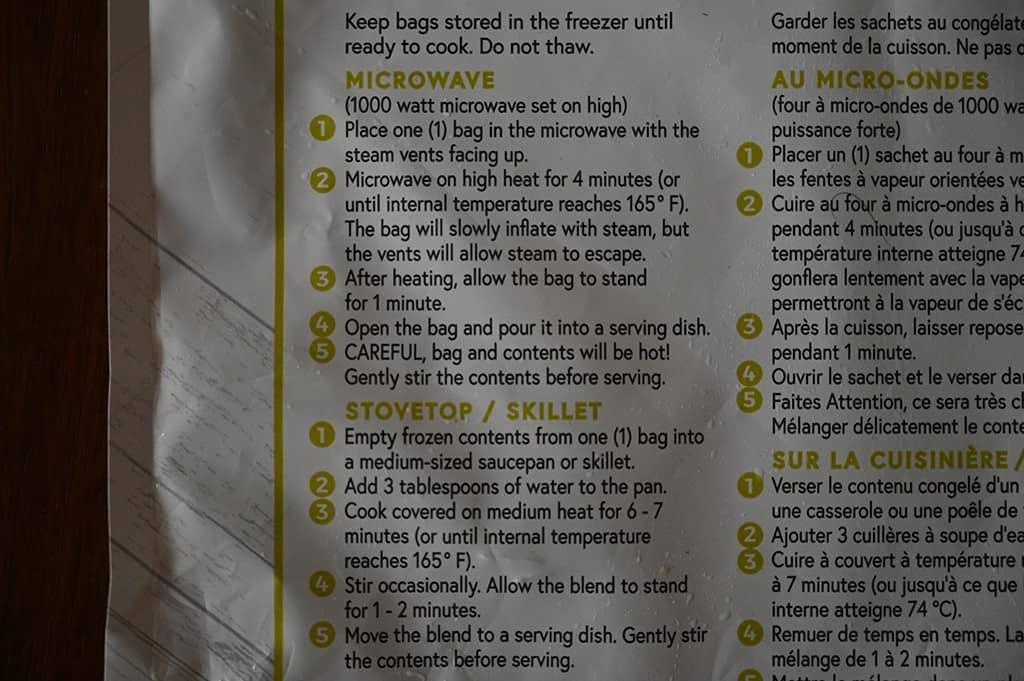 Costco Norquin Frozen Quinoa & Kale Cooking Instructions