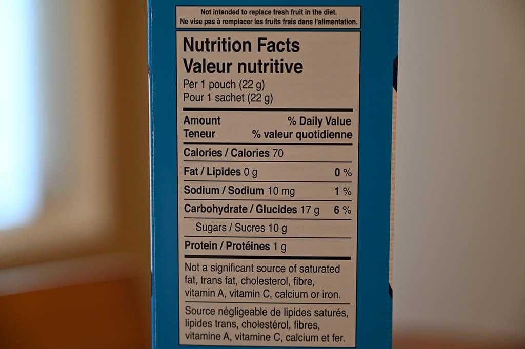 Costco Welch's Fruit Snacks Nutrition Information