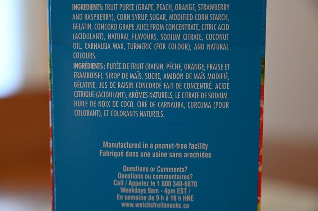 Costco Welch's Fruit Snacks Ingredients
