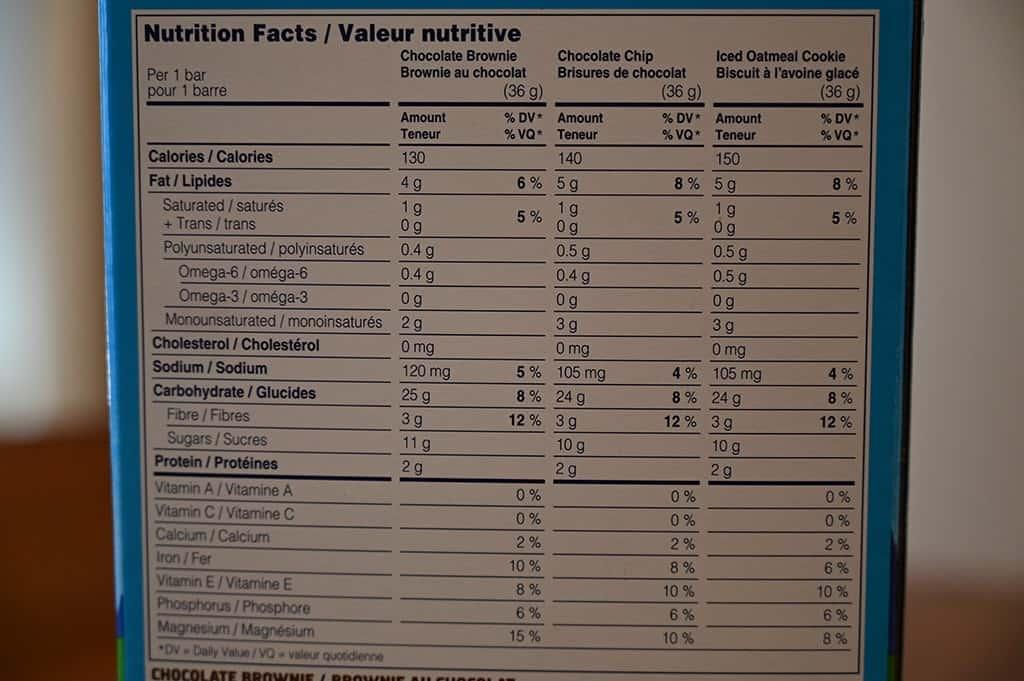 Costco Clif Kid ZBar Nutrition Information