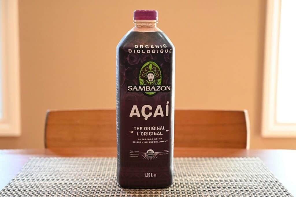 Costco Sambazon Acai Superfood Drink  bottle