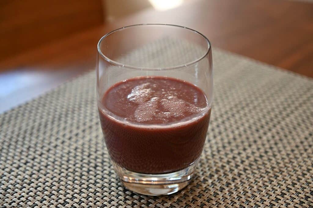 Costco Sambazon Acai Superfood Drink  poured in a glass