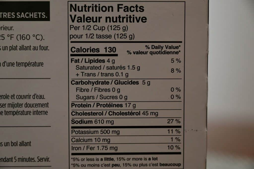Costco Stoney Creek Shaved Beef Au Jus Cooking Nutrition Facts