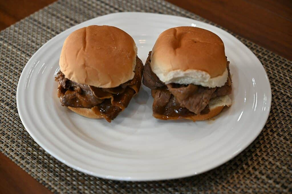 Costco Stoney Creek Shaved Beef Au Jus sandwiches