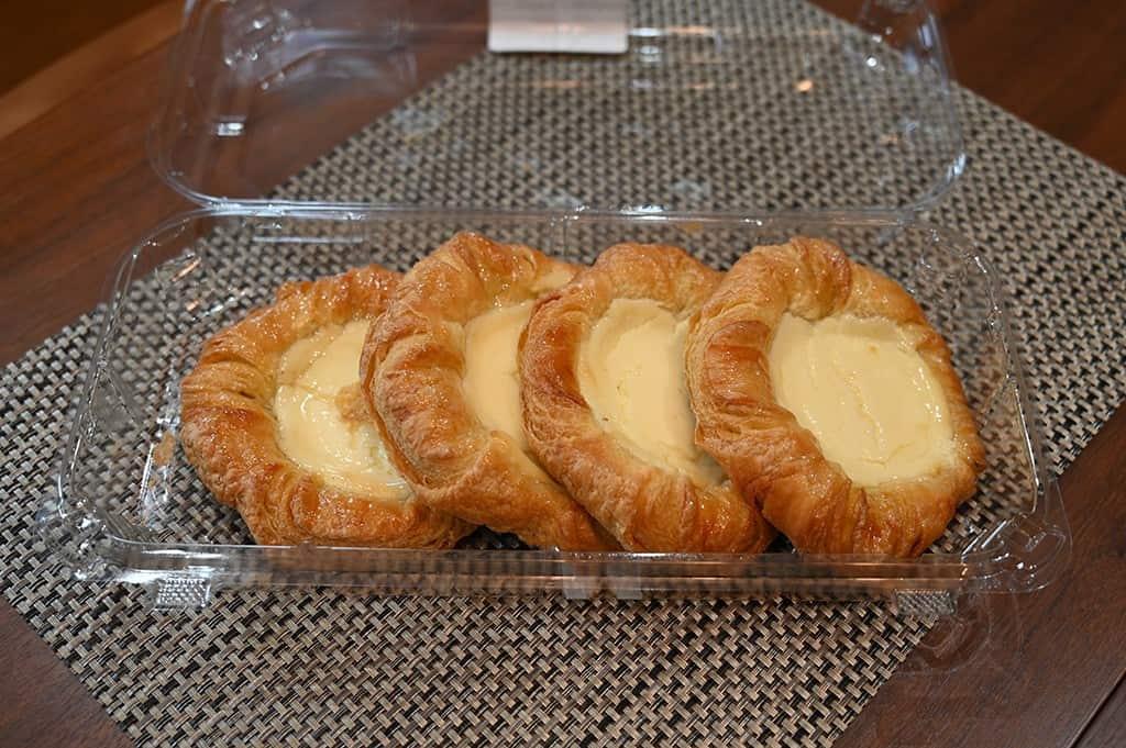 Costco Kirkland Signature Lemon Cream Cheese Danishes open container with danishes
