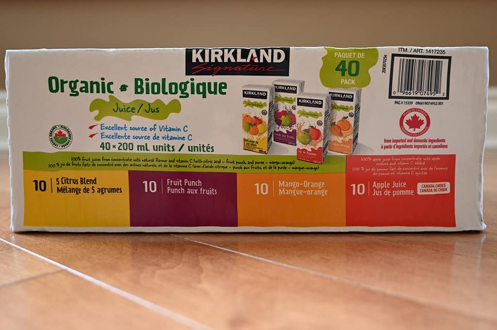 Costco Kirkland Signature Organic Juice Boxes