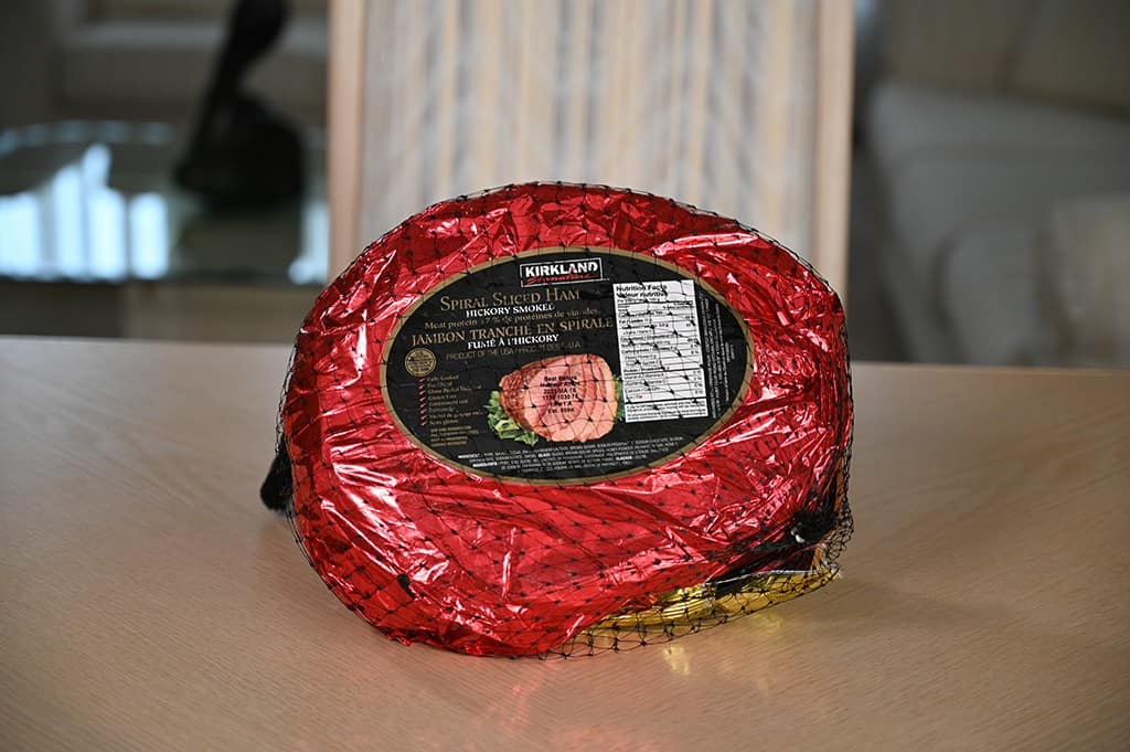 The Costco Kirkland Signature Spiral Sliced Ham.