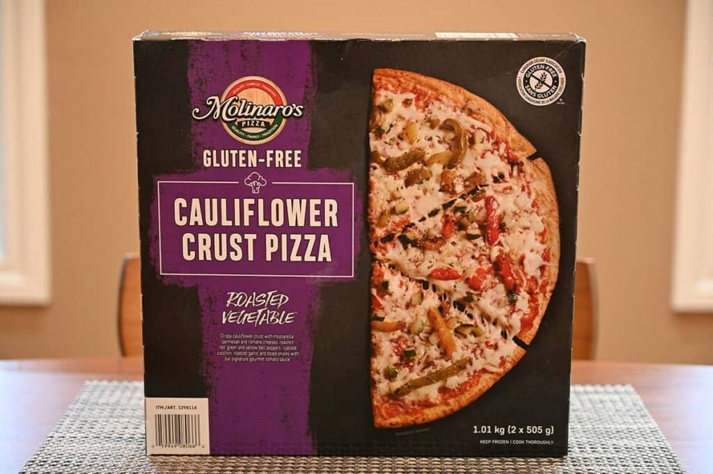 Costco Molinaro's Gluten-Free Roasted Vegetable Cauliflower Crust Frozen Pizza box