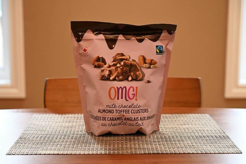 Costco OMG! Milk Chocolate Almond Toffee Clusters bag