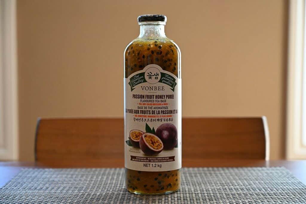 Bottle of Costco Vonbee Passion Fruit Honey Puree