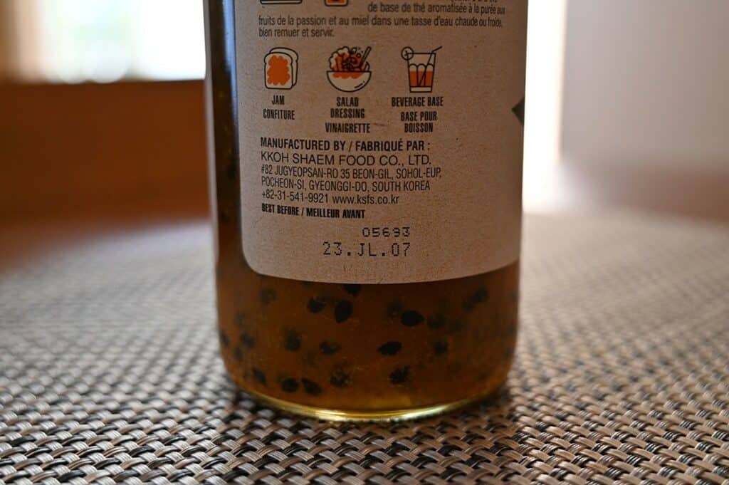 Costco Vonbee Passion Fruit Honey Puree suggestions on how to use