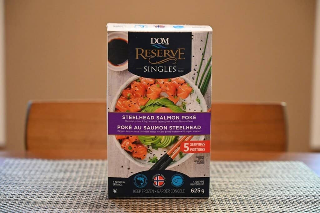 Costco Dom Reserve Singles Steelhead Salmon Poke Box