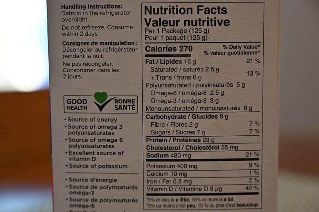 Costco Dom Reserve Singles Steelhead Salmon Poke Nutrition Facts