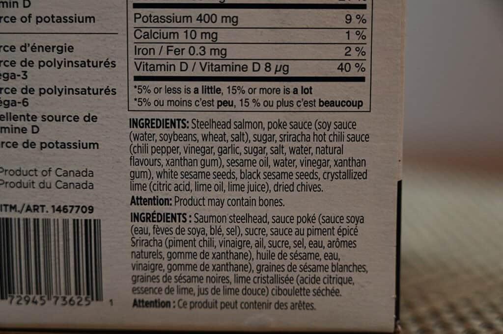 Costco Dom Reserve Singles Steelhead Salmon Poke Ingredients List