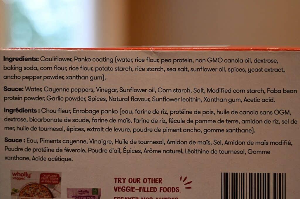 Costco Wholly Veggie Buffalo Cauliflower Ingredients List