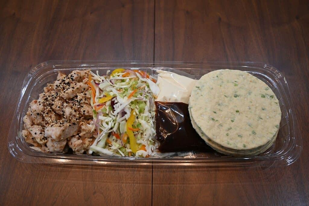 Costco Chicken Yakitori Flatbread ingredients in meal kit