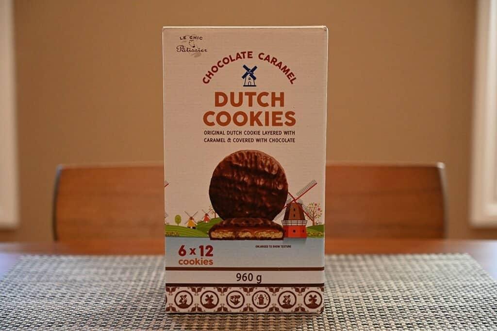 Costco Le Chic Patissier Chocolate Caramel Dutch Cookies box