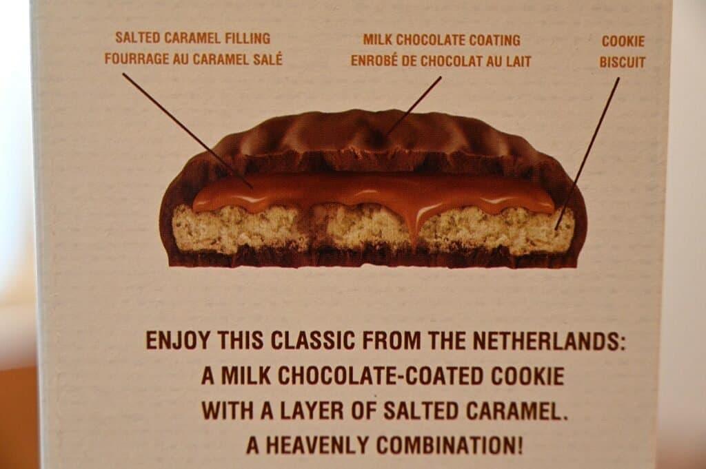 Costco Le Chic Patissier Chocolate Caramel Dutch Cookies product description on box