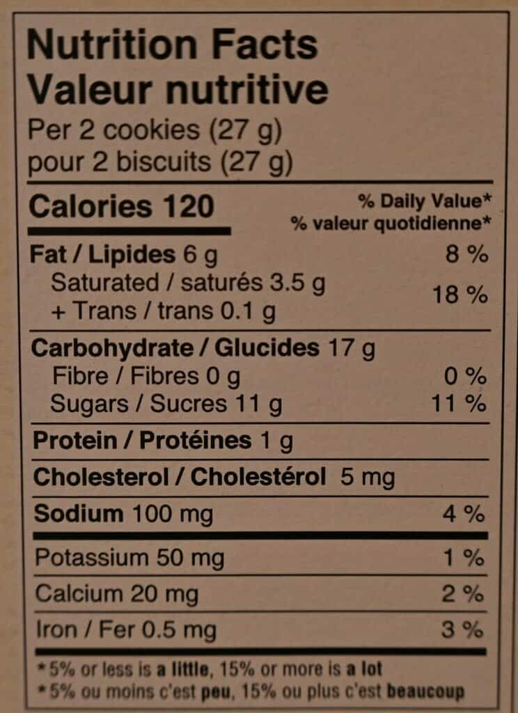 Costco Le Chic Patissier Chocolate Caramel Dutch Cookies Nutrition Facts
