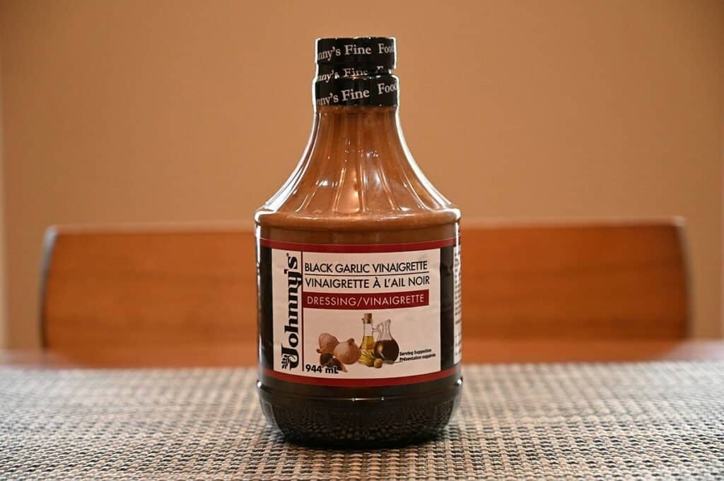 Costco Johnny's Black Garlic Vinaigrette bottle