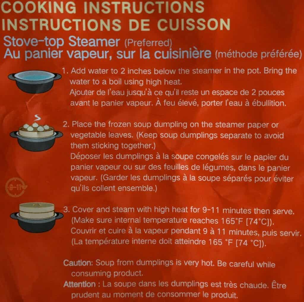 Costco Synear Soup Dumplings Cooking Instructions