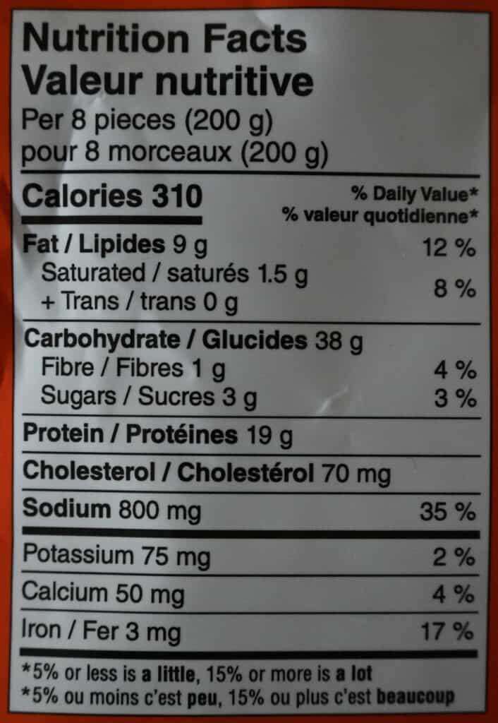 Costco Synear Soup Dumplings Nutrition Facts